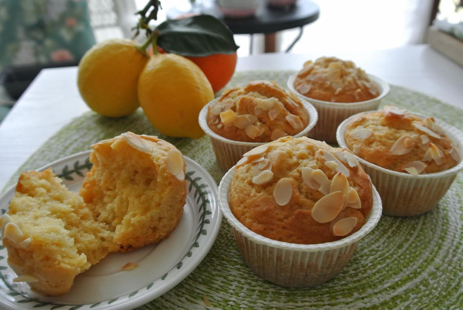 muffin agli agrumi vegan