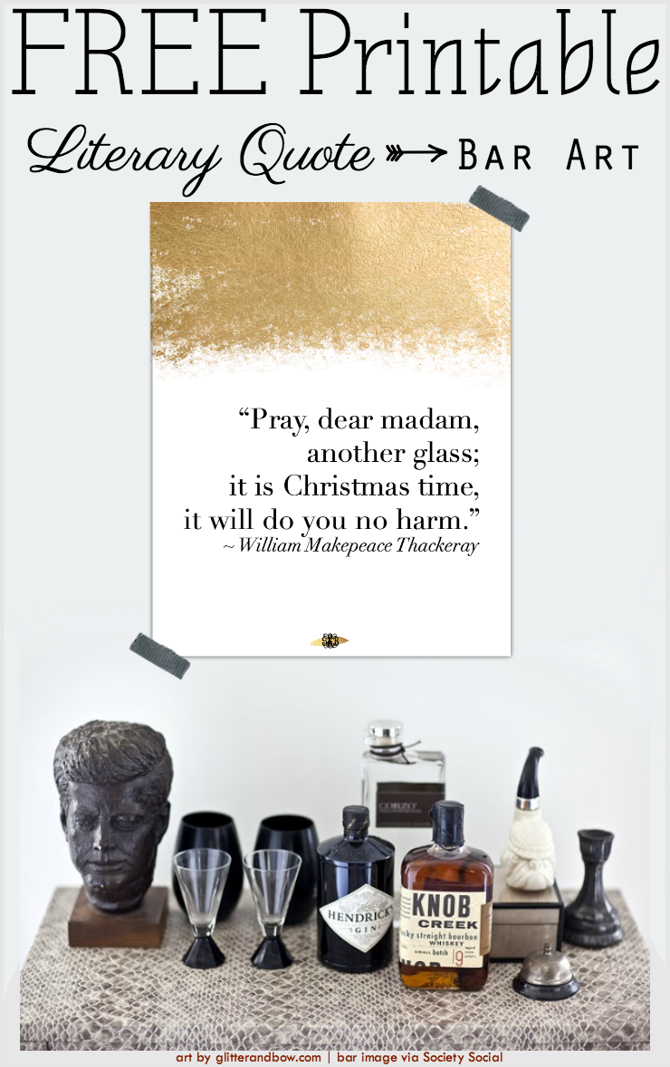 FREE Printable Literary Quote for your Bar