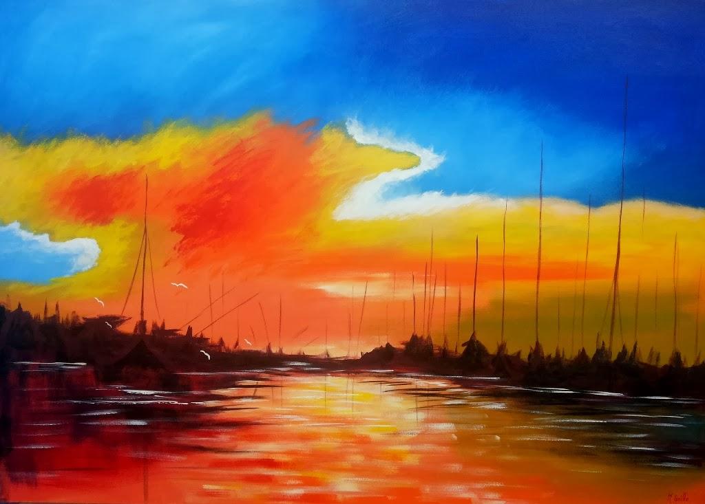 Pintura moderna y fotograf a art stica paisajes for Imagenes de cuadros abstractos famosos