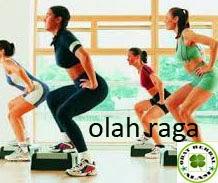 senam, jogging, sit-up. push-up