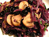Red Cabbage amongst Mushrooms together with Blueberries