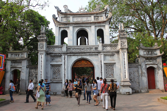 The main gate of Temple of Literature in Hanoi, Vietnam