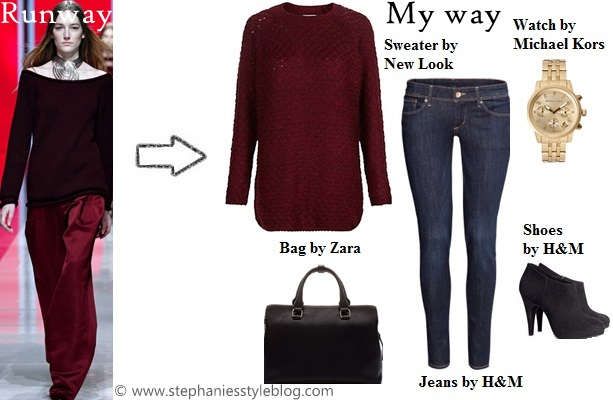 fall, trend, burgundy, outfit ideas