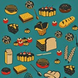 vintage vector set of cakes for bakery