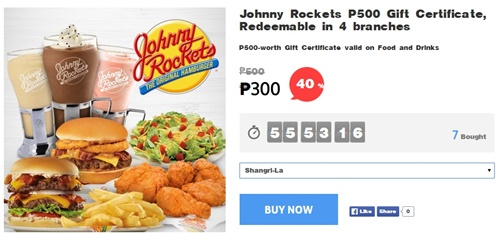 Johnny-Rockets, food promo, Ensogo-voucher, Ensogo-review, Johnny Rockets menu, Johnny Rockets burger