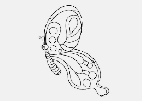 butterfly baby coloring pages - photo#15