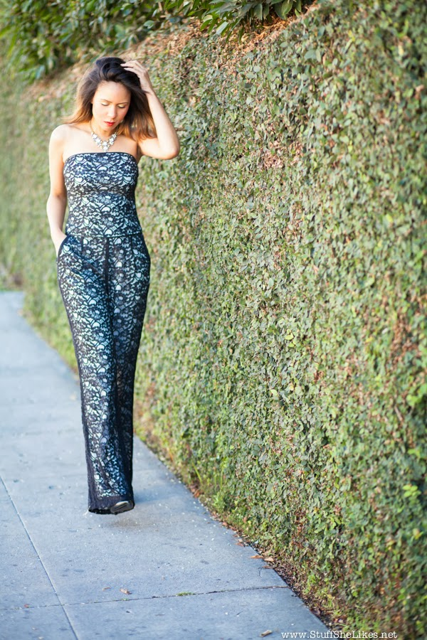 jumpsuit, Lace, Red carpet, Stuf She Likes, Taye Hansberry, Black lace Jumpsuit, Piper Gore, Fashion, Fashion Blogger, Black Blogger, Black girl, Ombre hair, Short hair