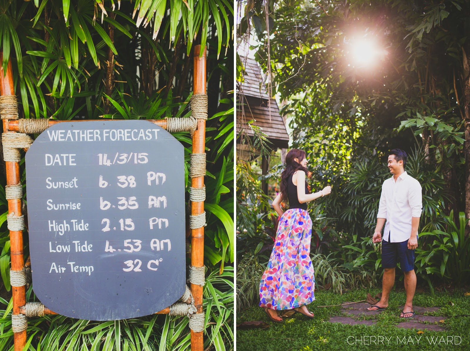FUN couples photoshoot, Koh Samui, dancing in the sunshine, Thailand, loving life, Weather Forecast Koh Samui,