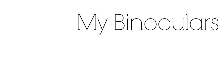 My Binoculars
