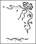 Bow and sprig stencil