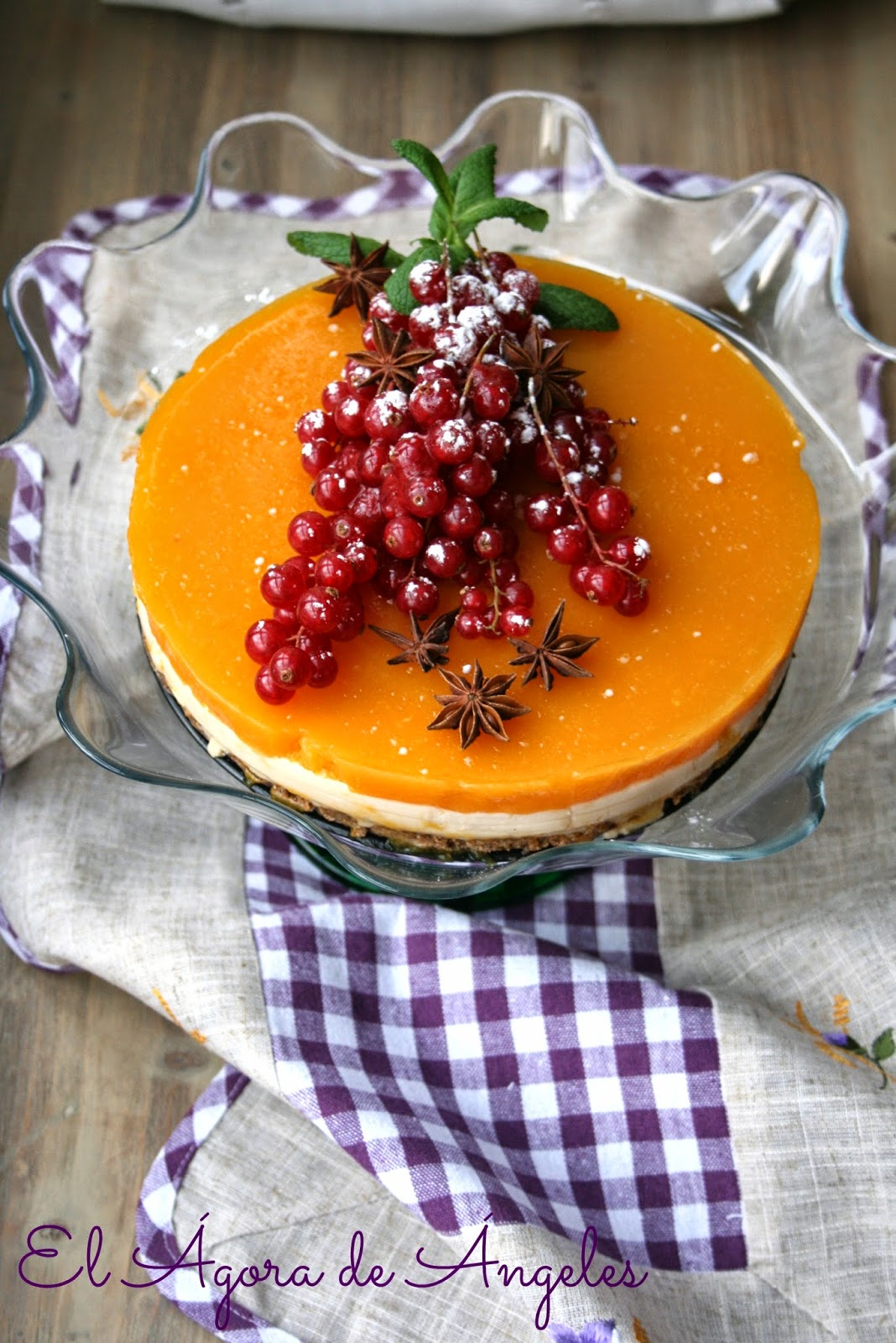 tarta mousse de turrón, gelatina de mango,Navidad