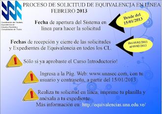 HAZ CLIC PARA EL PROCESO DE EQUIVALENCIAS UNA