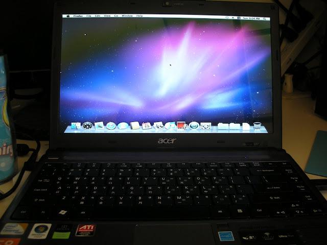 Acer 3810tg-352g32n強灌Mac 10.6 snow leopard雪豹成功!