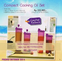 Tupperware Limited Compact Cooking Oil purple set