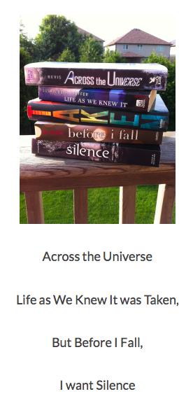 http://covertoocover.wordpress.com/2014/08/19/bout-of-books-challenge-jordans-book-spine-poetry/