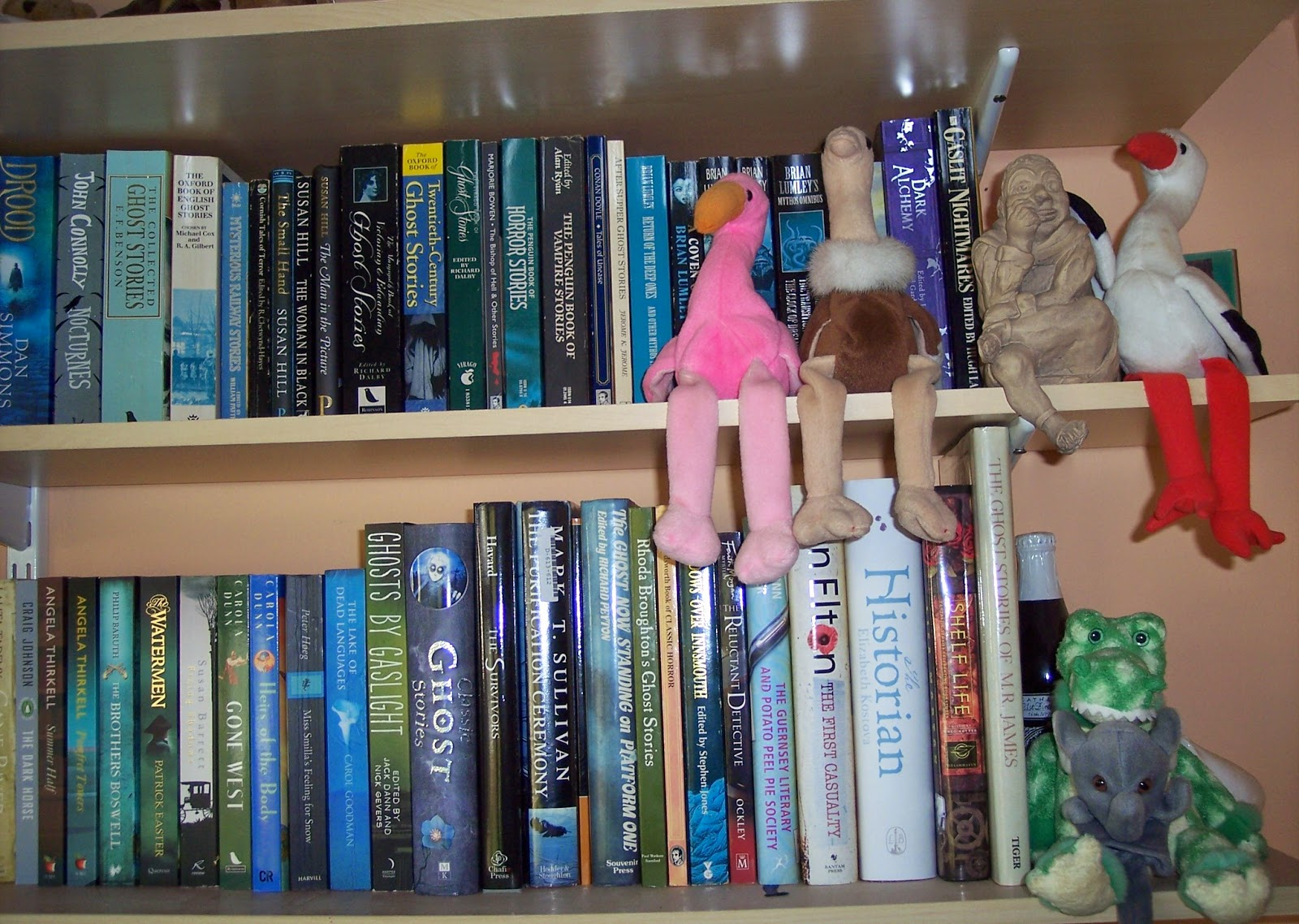 These Are At The Top Of The Stairs Facing You As You Go Up Mainly  Reference Books, Nonfiction, Poetry, My Cornish Books, But Also A Few  Large Heavy Books