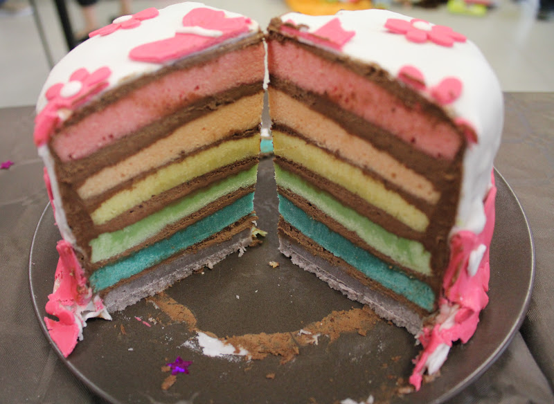 Rainbow Cake Nutella Facile