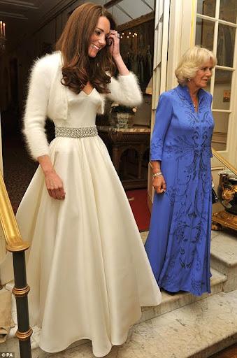 Кейт Мидълтън и лейди Камила на партито след кралската сватба