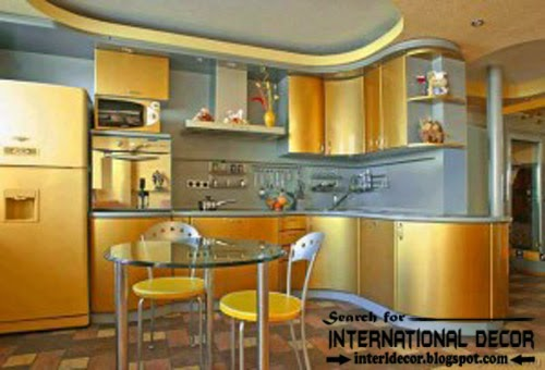how to choose best kitchen colors 2015, modern golden kitchens
