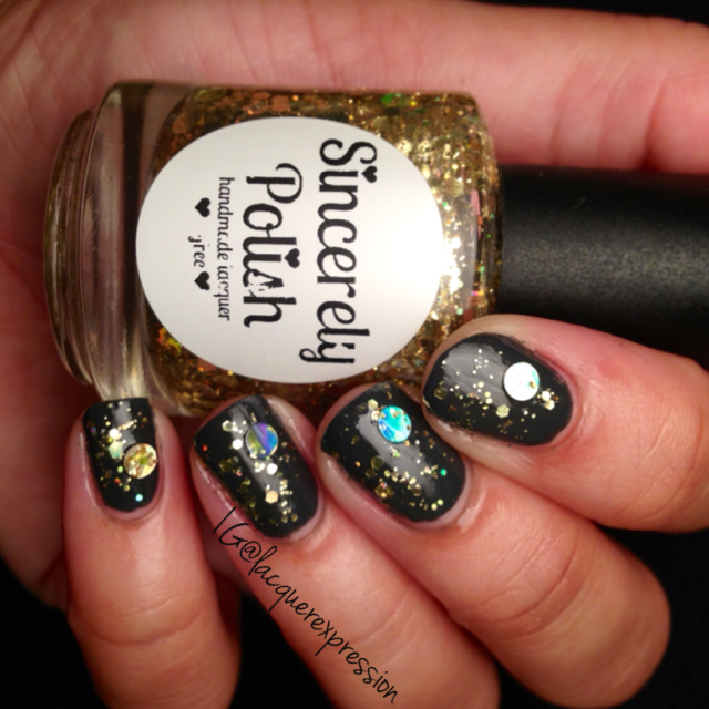 don't touch my pot of gold nail polish swatch by sincerely polish