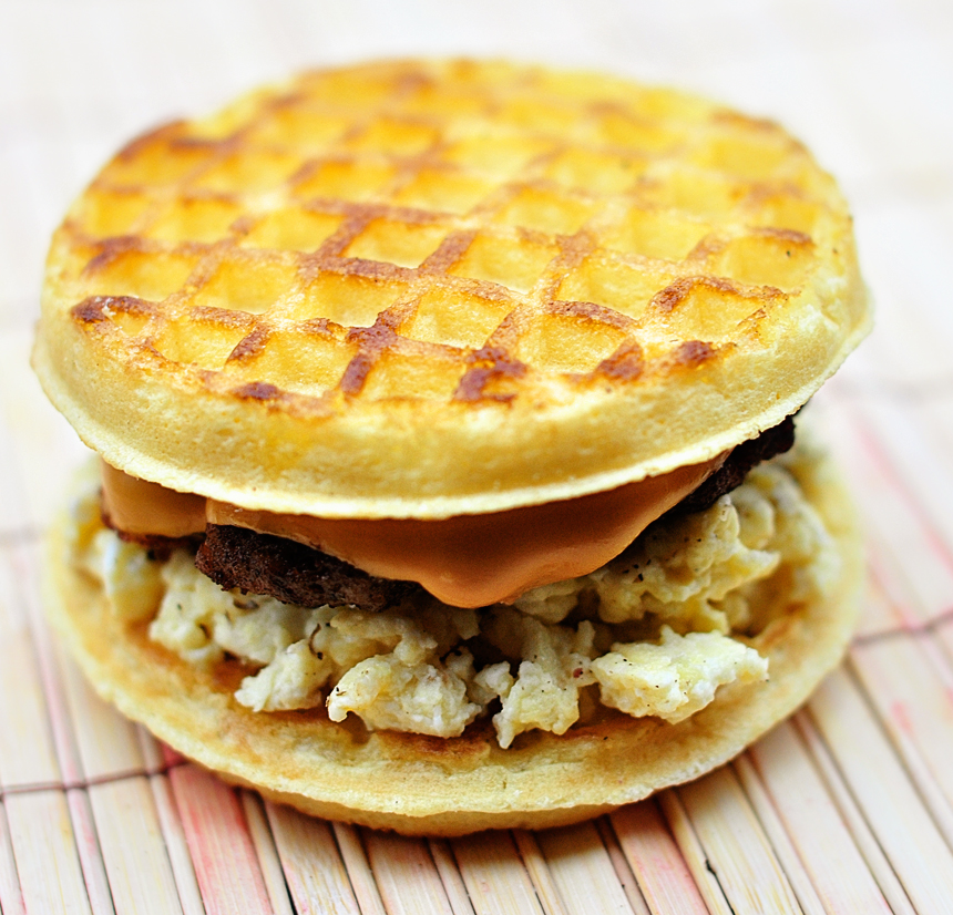 Download image Waffle Sausage Egg And Cheese Sandwich PC, Android ...