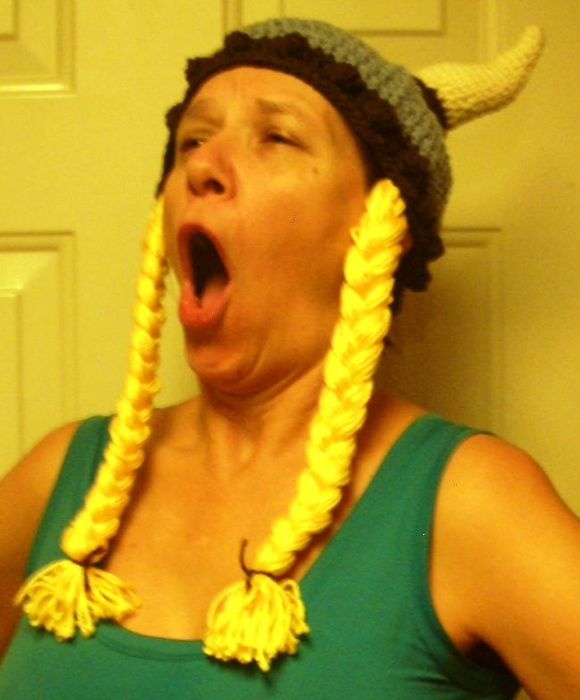 Crochet Parfait Viking Helmet