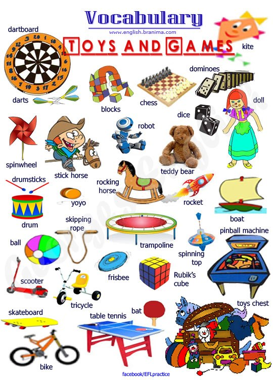 Toy Vocabulary Game : Our english corner class toys and games