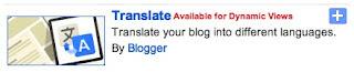 Стиль гаджета translate для Blogger