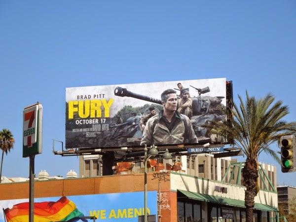Fury film billboard