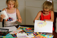 kids doing arts & crafts