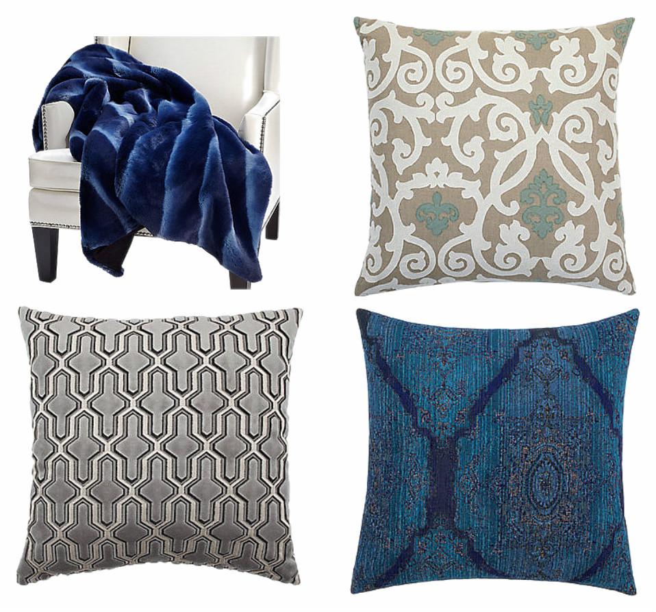 Here Are A Few Pillows That Caught My Eye....and That Blue Throw Made Me  Want To Curl Up And Just Ignore The Fact That After Searching For A Week.