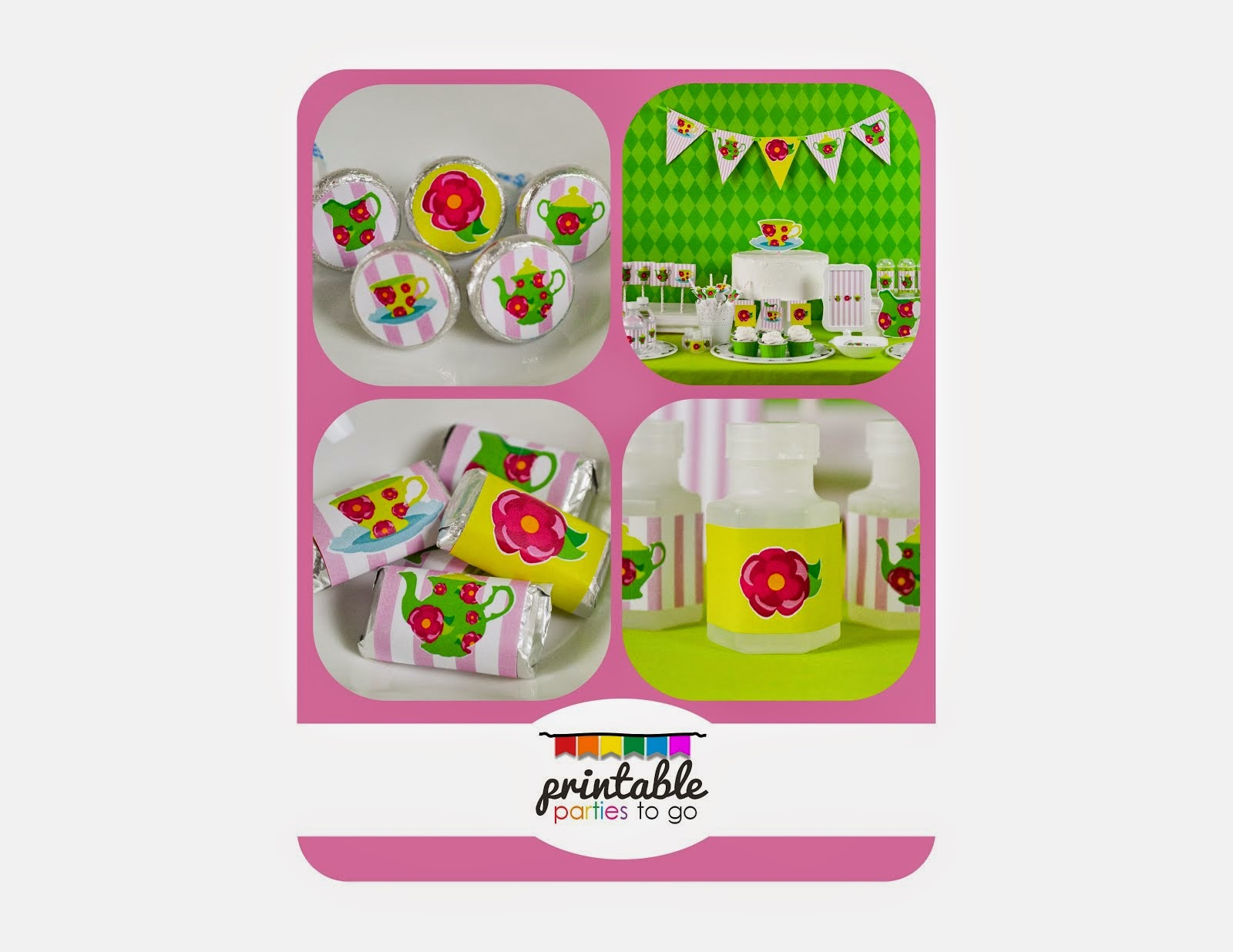 TEA PARTY ROSEY GREEN