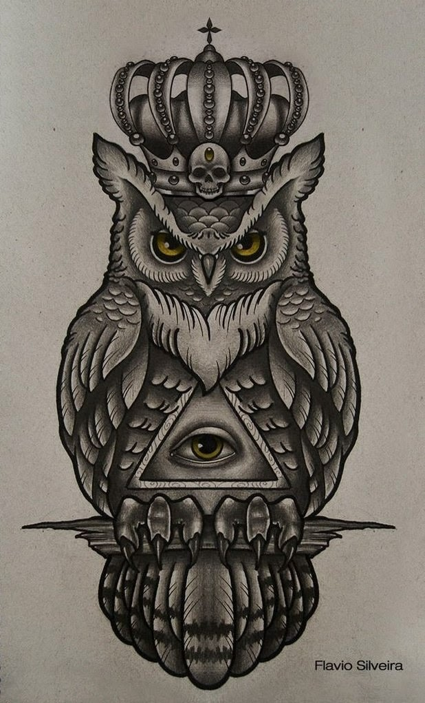 Art and tattoo owl for Owl tattoo designs