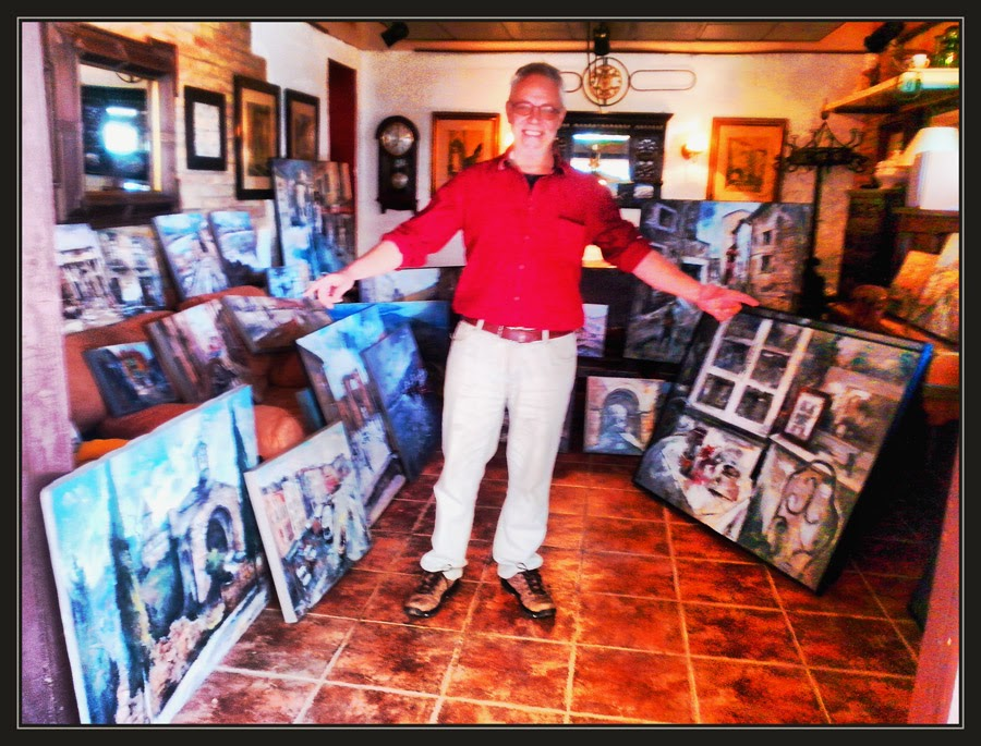 EXPOSICIONES-EXPOSICIONS-PINTOR-ERNEST DESCALS-ART AL JARDI-PINEDA DE BAGES-MANRESA-PREPARATIVOS-CATALUNYA--