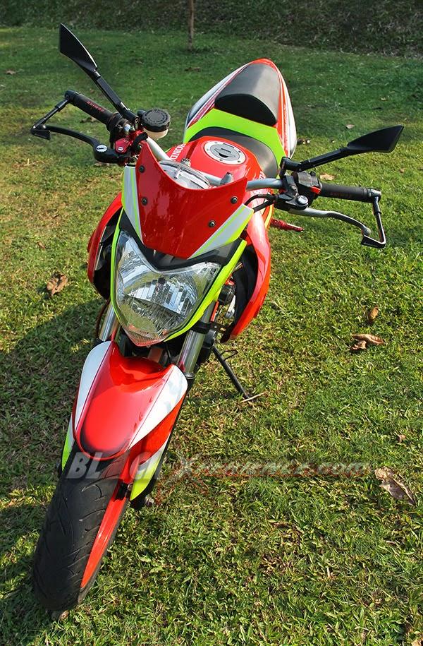 Modifikasi Motor Honda CS1 Adopsi Kaki-kaki Yamaha Byson 2014