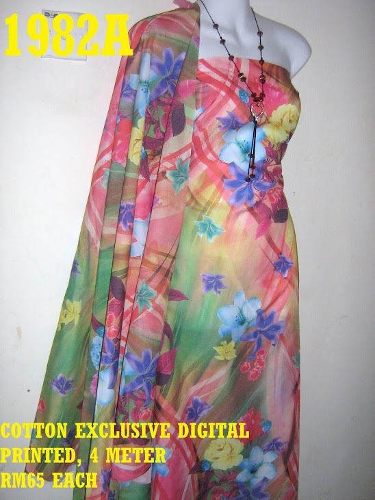 CDP 1982A: COTTON EXCLUSIVE DIGITAL PRINTED, 4 METER