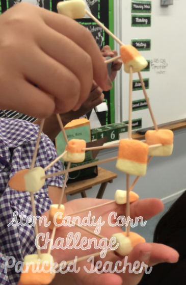 Candy Corn Activity, STEM Candy Corn Tower