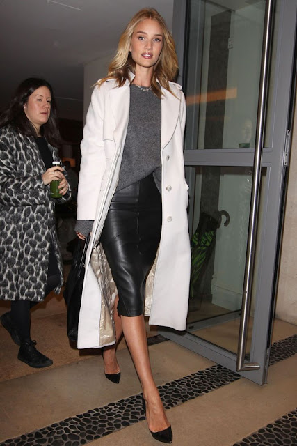 Rosie Huntington Whiteley, out in London, celebrity street style, winter style, what to wear