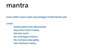 Contoh Mantera