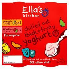 Ella's kitchen dairy range, Yoghurt, fruity yoghurt no sugar