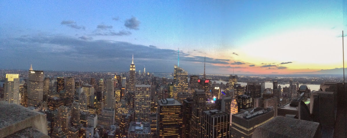 panorama top of the rock nyc night