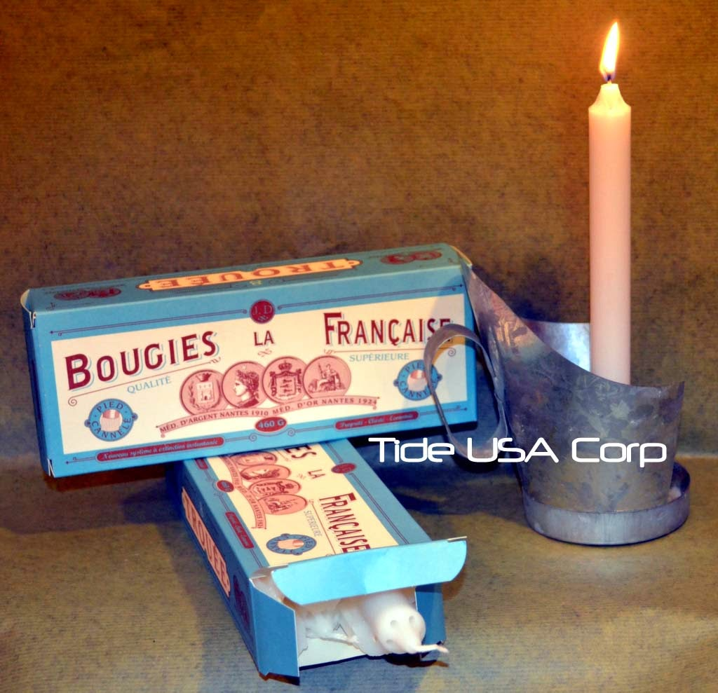 get your box of bougies la francaise taper candles today. Black Bedroom Furniture Sets. Home Design Ideas