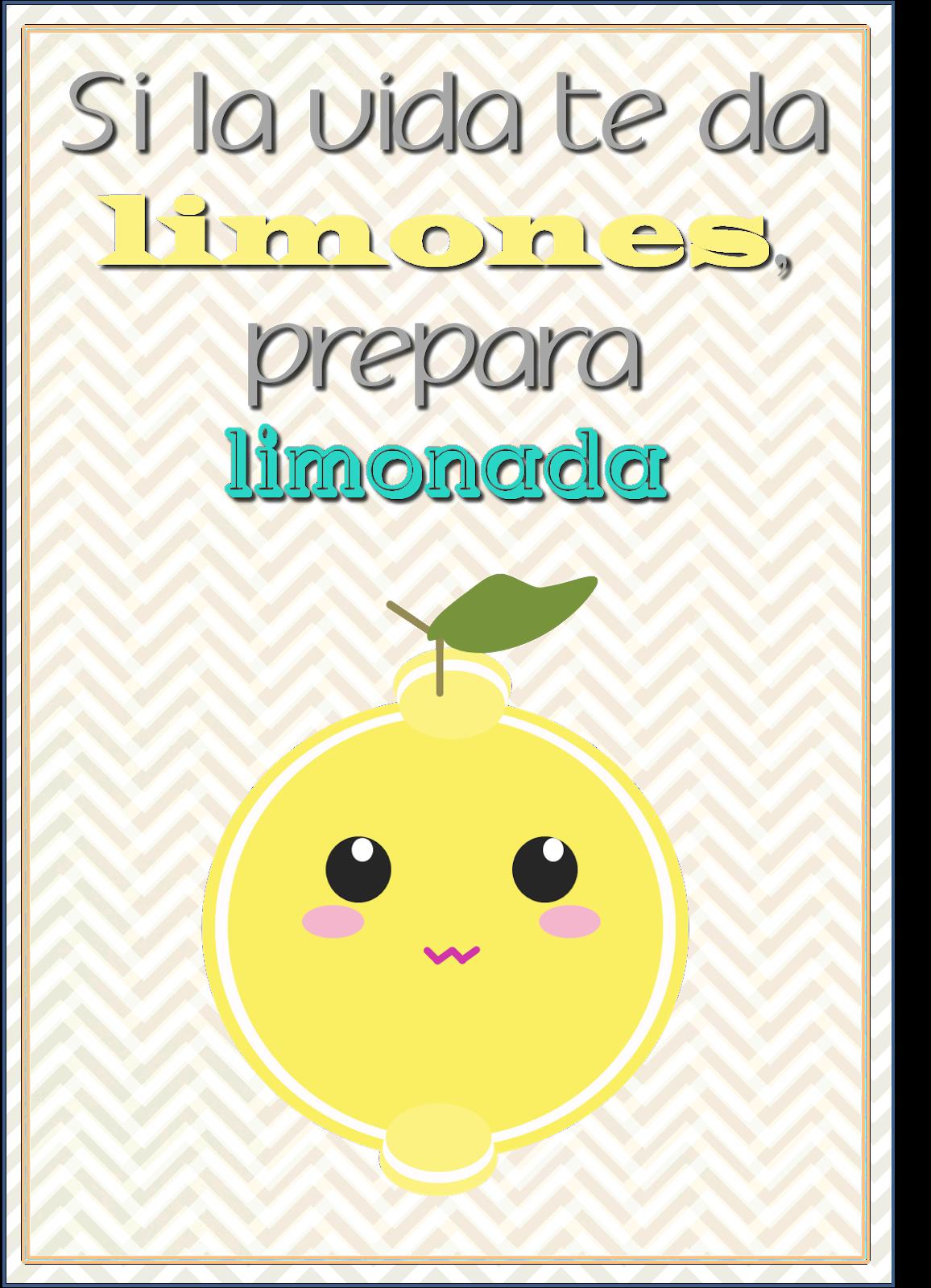"""freebie imprimible gratis lámina """"Si la vida te da limones prepara limonada"""""""