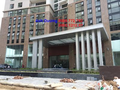 Mặt chính tòa chung cư cao cấp Hà Đô Park View Cầu Giấy, Dịch Vọng, HN