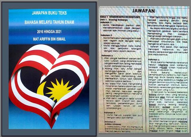 Buku Jawapan dan Rujukan Guru Mengajar Bahasa Melayu Tahun 6