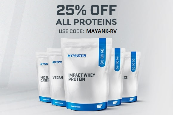 get 25% off on myprotein india