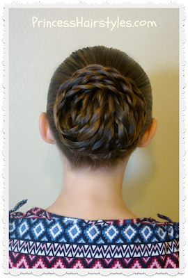Elegant textured updo tutorial