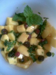 mango and phalsa salad