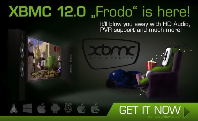Ya la tenemos aqui, versión 12.0 FRODO para XBMC