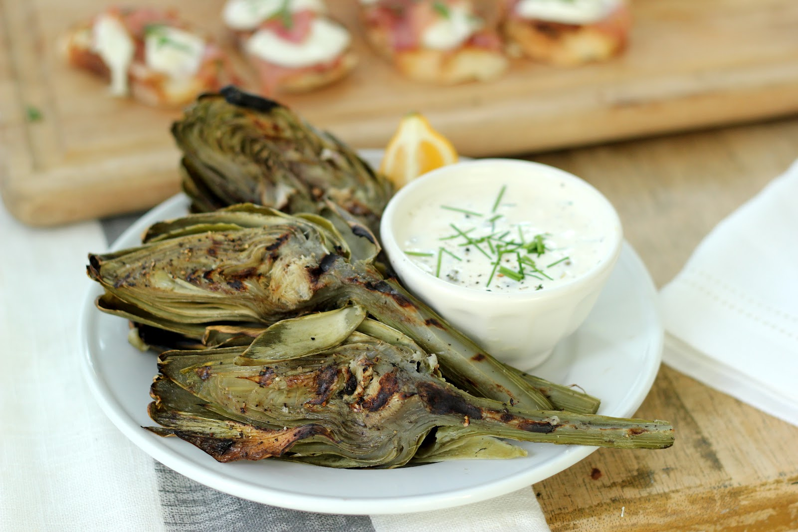 Steffens Hobick: Grilled Artichokes with Lemon Garlic Caper Aioli ...